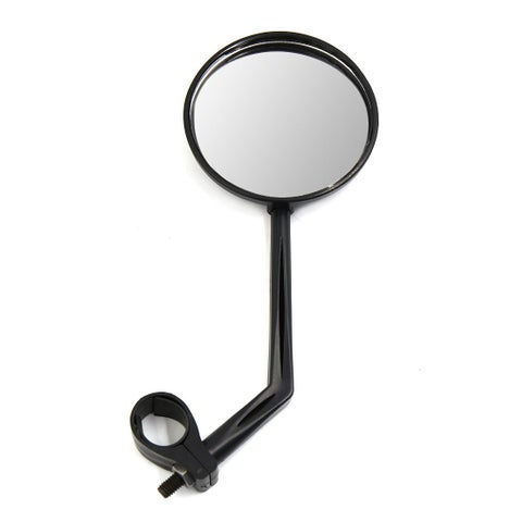 Unique Bargains 75mm Dia Round Shaped Motorcycle Motorbike Adjustable Rearview Mirror Black