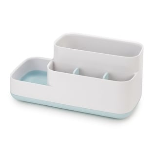 Link to Joseph Joseph 70504 EasyStore Bathroom Storage Organizer Caddy Countertop, Blue - Blue & White Similar Items in Toothbrush Holders