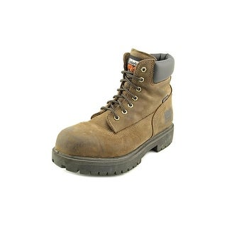 """Timberland Direct Attach 6"""" Men Steel Toe Leather Brown Work Boot"""