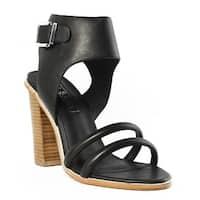 Sol Sana Womens Tiki Black Ankle Strap Heels Size 9