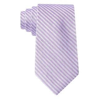 Calvin Klein CK Light Purple Corona Striped II Slim Silk Blend Tie Necktie