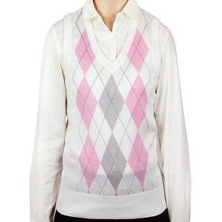 Ladies Argyle Sweater Vest (LSV-159)