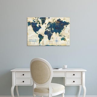 Easy Art Prints Sue Schlabach's 'World Map Collage' Premium Canvas Art