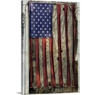 """American flag pattern"" Canvas Wall Art"