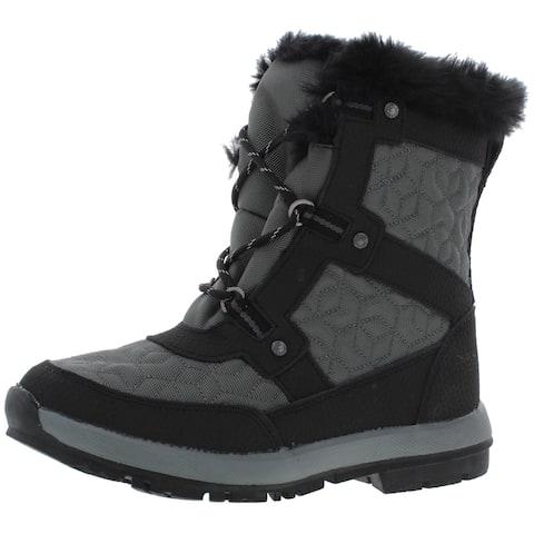Bearpaw Womens Marina Winter Boots Leather Waterproof - Charcoal