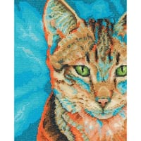 """Tabby Counted Cross Stitch Kit-8""""X10"""" 14 Count"""