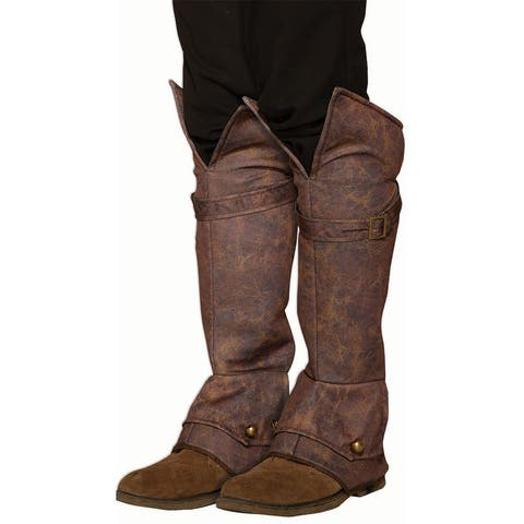 Weathered Boot Covers - Brown - One Size Fits Most