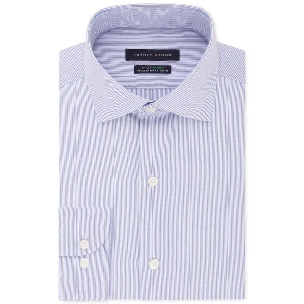Tommy Hilfiger Mens Big & Tall Button-Down Shirt Striped Suit Separate - Multi Blue. Opens flyout.