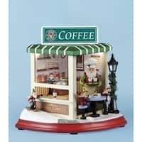 "8.25"" Musical Rotating LED Lighted ""Snow Bucks"" Christmas Coffee Shop Decoration"