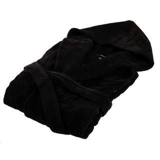 Versace VDBO548 003 Black Hooded Short Bathrobe- Medium