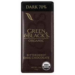 Green Black Dark Chocolate Impulse Bar 1.2 Oz - -Pack of 20