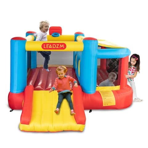 Inflatable Bounce House Slide Jumping Bouncy Castle House for Kids Party with Air Blower - (122.83 x 118.90 x 65.75)