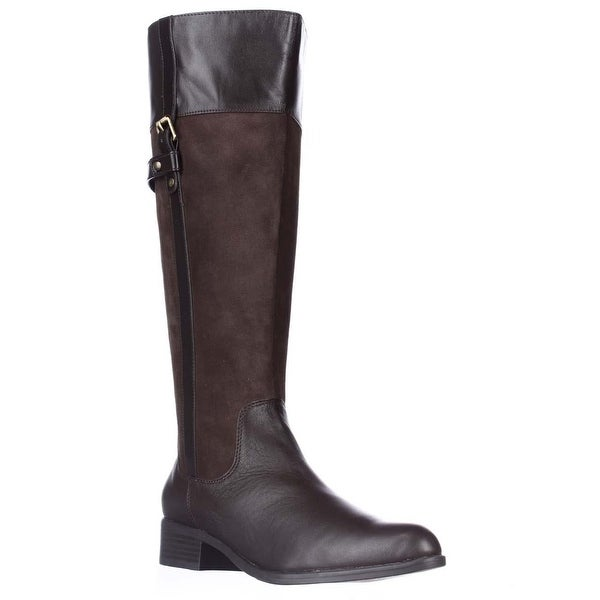 Easy Spirit Dominaw Wide Calf Comfort Riding Boots, Dark Brown - 6.5 us