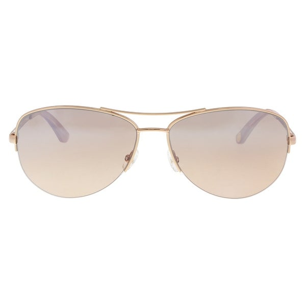 d26236d71c Shop Juicy Couture JU 594 S 0AU2 G4 Red Gold Aviator Sunglasses - 60 ...