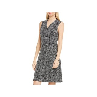 Vince Camuto Womens Cocktail Dress Sleeveless Wrap