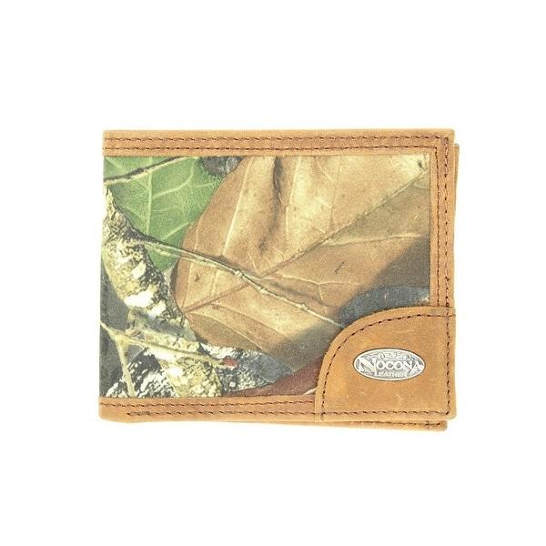 Nocona Western Wallet Mens Slim Bifold Mossy Oak Camo Brown - One size