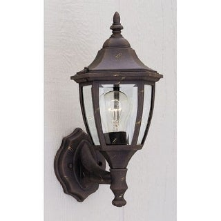 "Designers Fountain 2462-AG 1 Light 7"" Cast Aluminum Wall Lantern - Gold"