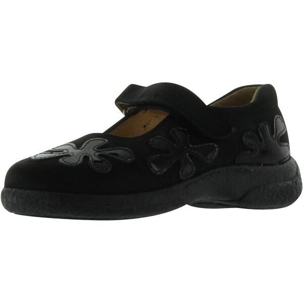 A&S Girls 6169 European Made Quality Shoes - Black