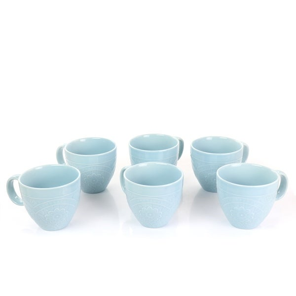 Alemany 6 Pc 16.3 Ounce Cup Set in Aqua. Opens flyout.