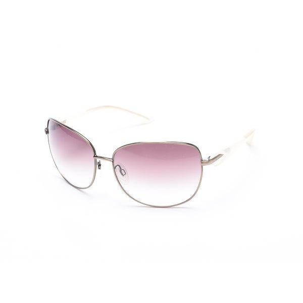 Moschino Women's Oversized Pilot Sunglasses White/Bronze - Clear - Small