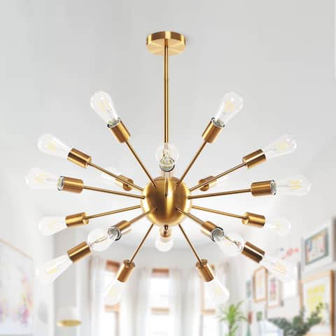 Modern 18-light Brass Sputnik Chandelier
