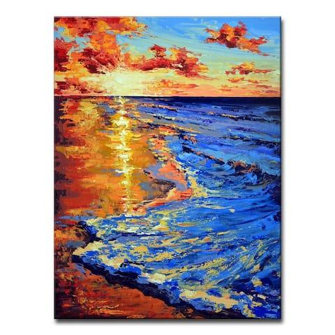 Porch & Den Sunset Shore' Scenic Coastal Canvas Art