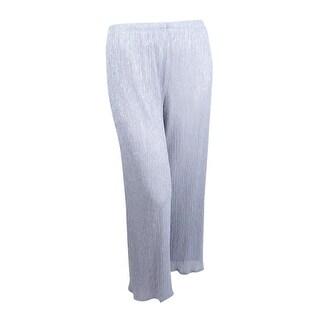 MSK Women's Metallic Knit Palazzo Pants