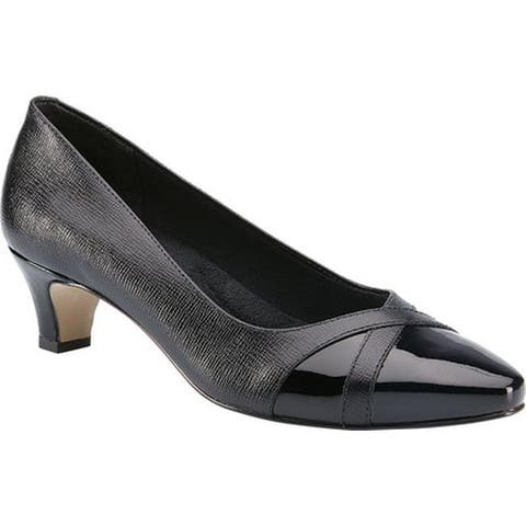 Walking Cradles Women's Intro Pump Black Leather
