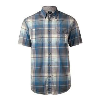 Just Keep Livin Men's Plaid Cargo Cotton Shirt - L
