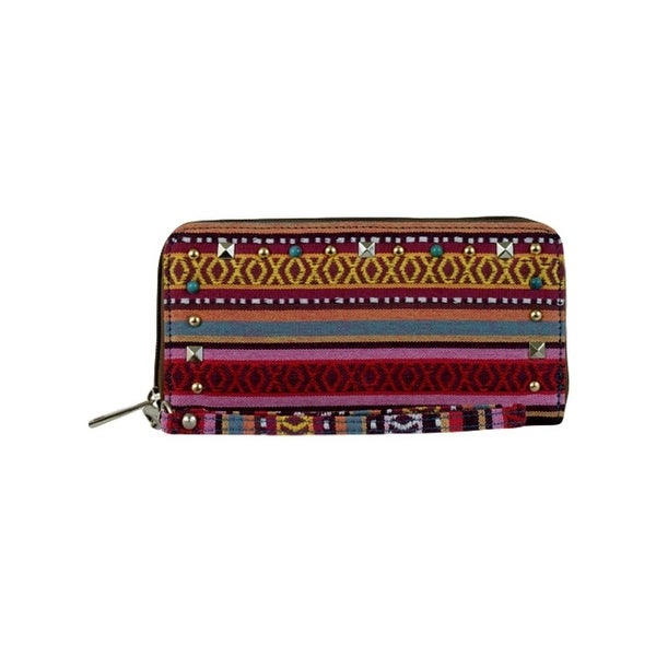 "Coral Ridge Western Wallet Womens Marjorie Canvas Multi-Color - 7 1/2"" x 1"" x 3 3/4"""