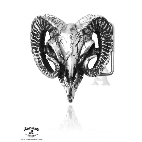 Alchemy Gothic Ram's Skull Buckle