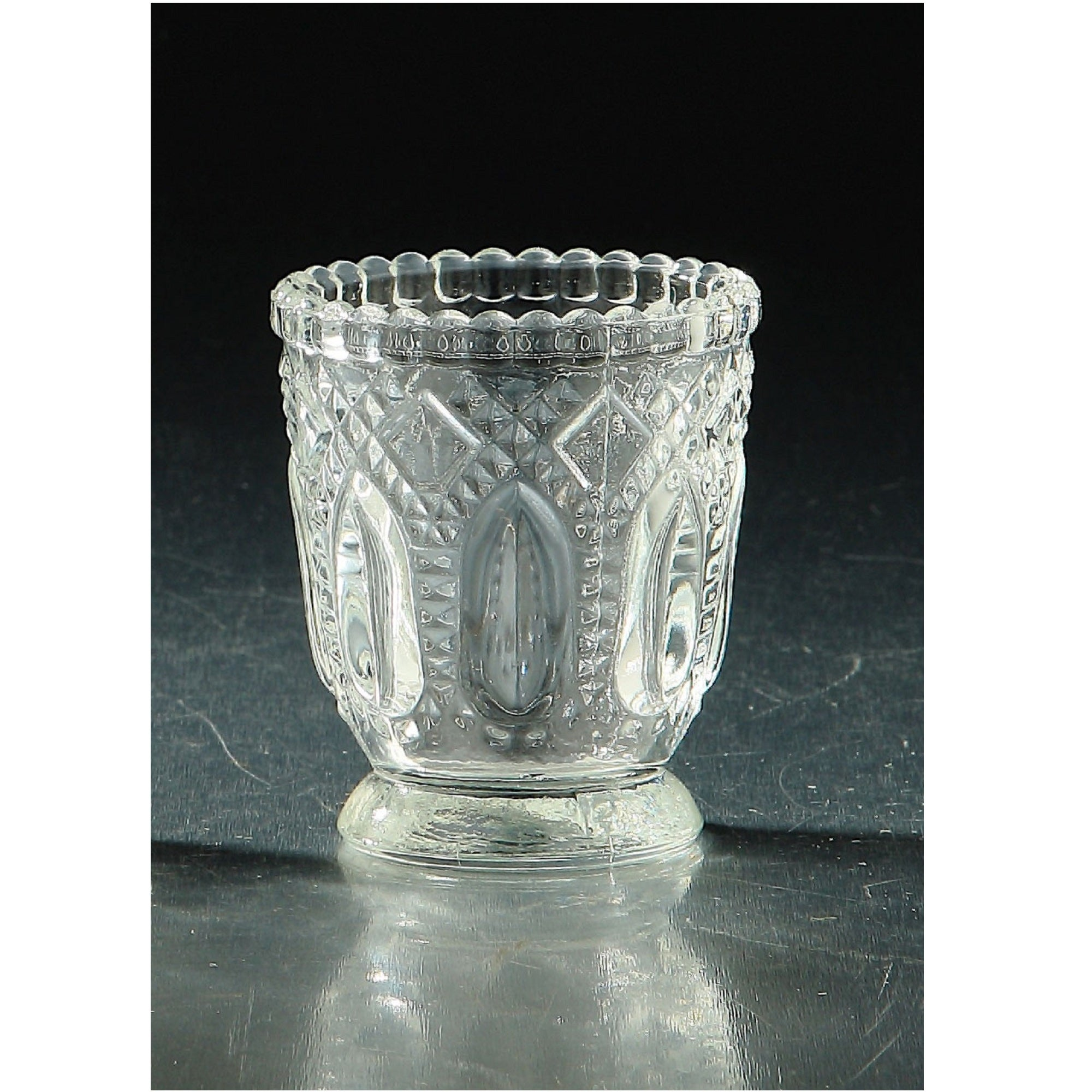 3 Clear Vintage Hand Blown Glass Votive Or Tea Light Candle Holder Overstock 28706379