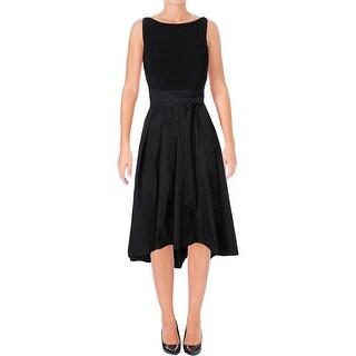 Lauren Ralph Lauren Womens Petites Formal Dress Hi-Low Sleeveless