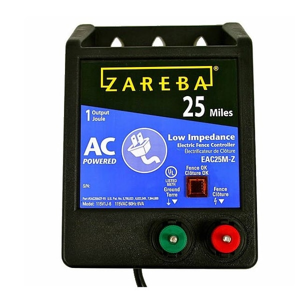 Zareba EAC25M-Z AC Low Impedance Fence Charger, 25 Mile
