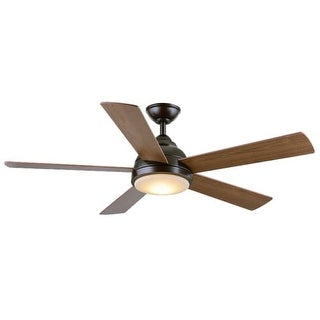 """Wind River WR1475 Neopolis 52"""" 5 Blade Hanging Indoor Ceiling Fan with Reversible Motor, Light Kit, Blades, and Remote Included"""
