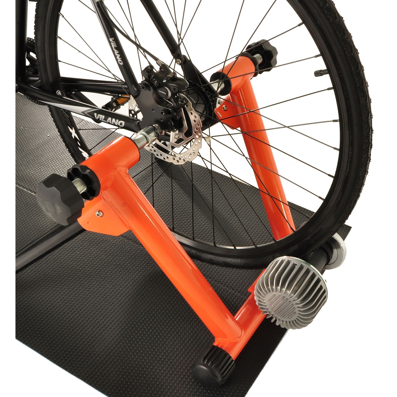 Fluid Bike Trainer >> Conquer Fluid Bike Trainer Pro Indoor Bicycle Training Stand Orange