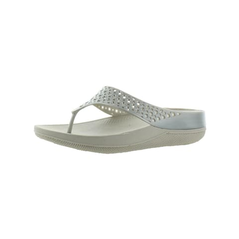 135669bca3f3 Fitflop Womens Ringer Welljelly Flip-Flops Laser Cut Thong