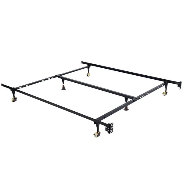 Shop Costway Metal Bed Frame Adjustable Queen Full Twin Size W