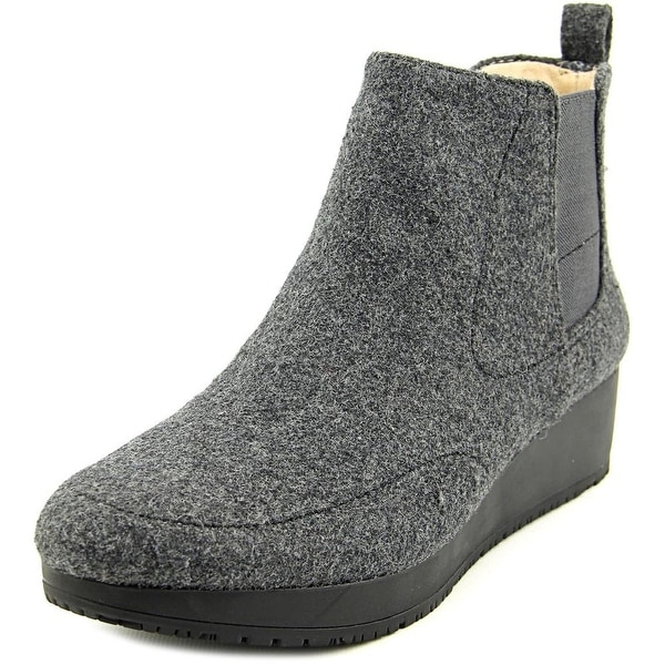 Dr. Scholl's Scarlet Women  Round Toe Canvas Gray Ankle Boot