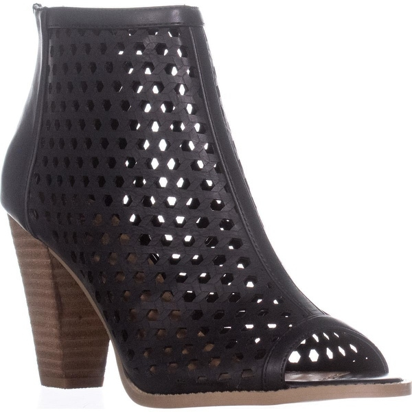 Report Ronan Perforated Ankle Booties, Black - 9 us