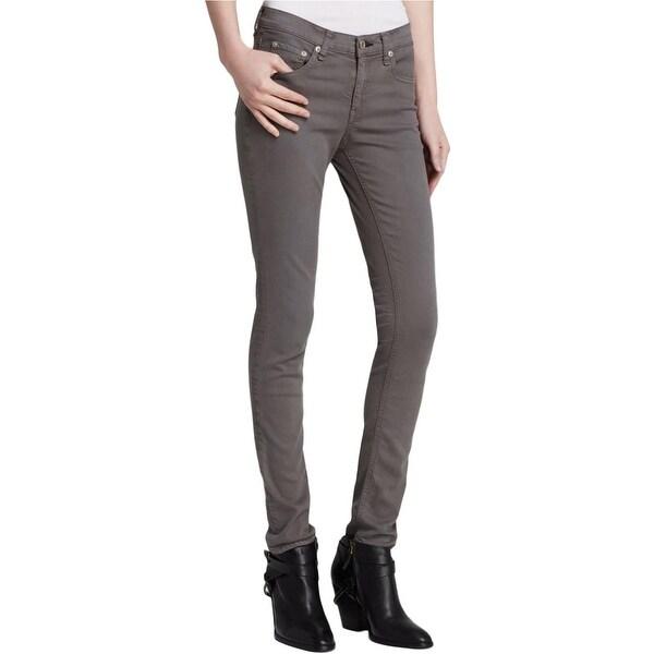 Rag & Bone Womens Colored Skinny Jeans Denim Mid-Rise