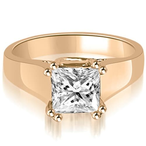 0.50 cttw. 14K Rose Gold Dual Prong Solitaire Princess Diamond Engagement Ring