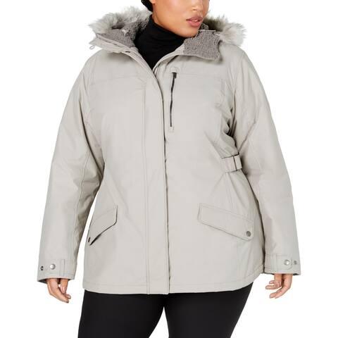 Columbia Womens Plus Penns Creek Jacket Faux Fur Trim Thermal - Grey - 1X