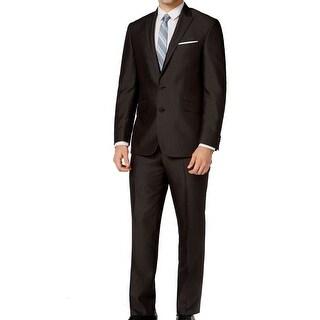 Kenneth Cole Reaction NEW Black Mens Size 40 L Two Button Suit Set