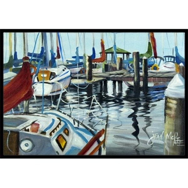 Carolines Treasures JMK1065JMAT Orange Sail Sailboats Indoor & Outdoor Mat 24 x 36 in.