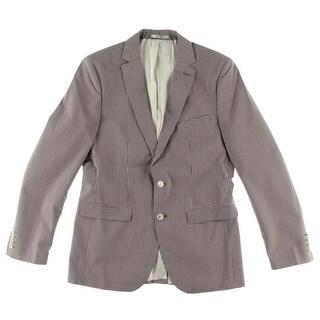 Zara Mens Checkered Single Vent Casual Blazer - 38