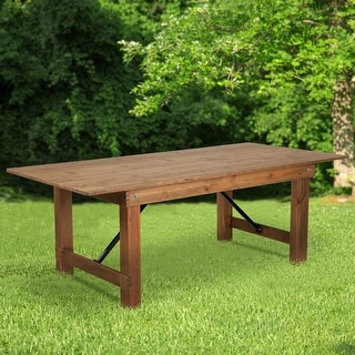 "Link to 7' x 40"" Rectangular Antique Rustic Solid Pine Folding Farm Table Similar Items in Dining Room & Bar Furniture"