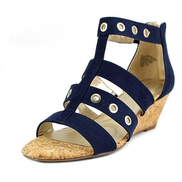 Bandolino Olegga Women Open Toe Synthetic Wedge Sandal