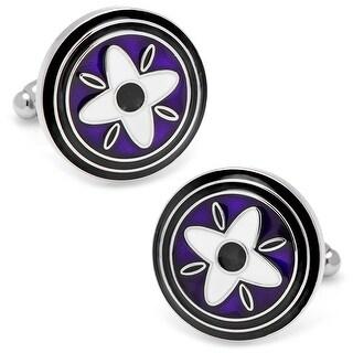 Purple and Blue Twilight Star Cufflinks