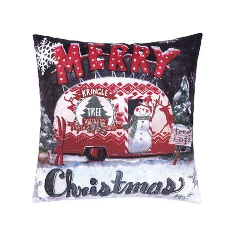 Tree Lot Christmas Pillow